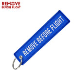 Fashion Keychain Fabric Keychains Luggage Tag Jewelry Embroidery Key Ring Chain Aviation