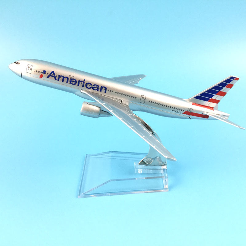 Free Shipping American Airlines Boeing 777 16cm Alloy Metal Model Aircraft Airplane Plane Gift