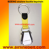 Genuine Leather Key Ring Keyholder Aircraft Buckle Keyring