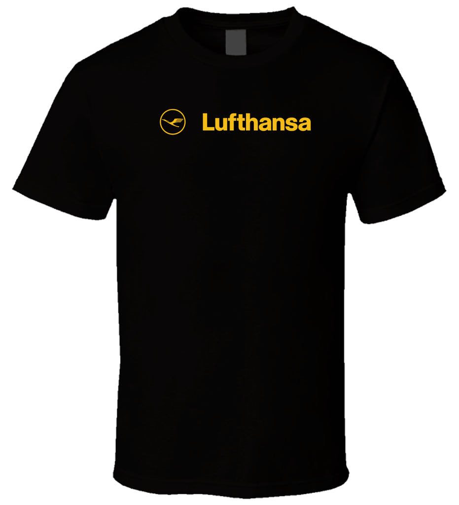 Lufthansa Airline 5 New Hot Sale Black Men T Shirt Cotton 100% Cotton Short Sleeve Youth