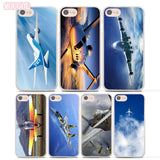 Fighter propeller plane aircraft airplane design hard clear Case Cover for Apple iPhone