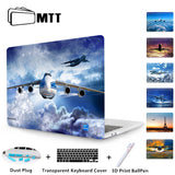MTT Print Boeing aircraft Crystal Case For new Macbook Pro Retina 13 15 Touch Bar A1706 A1707