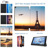 MTT TriFold Stand Cover with Wake Sleep For All-New Amazon Fire HD 10 2017 Boeing aircraft case for Fire HD 10.1 Inch 2017 Case