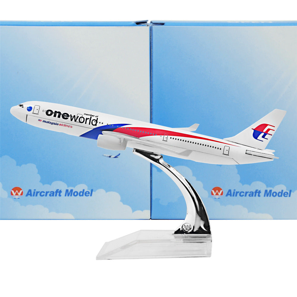 Malaysia One World Alliance Airbus A330 16cm Alloy Metal Model Aircraft Collection Gift