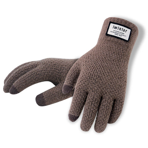Men Knitted Gloves Thick Warm Patchwork Touch Screen Glove Mittens 2018 Autumn Winter Male Fitness Workout Glove Mitaine