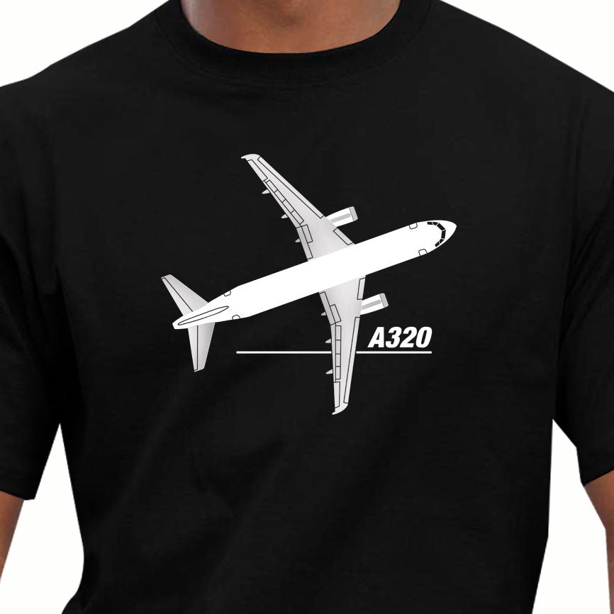Men T Shirt 100% Cotton Cartoon Classic Airbus A320 Aircraft Plane Short Sleeve Cotton T Shirts