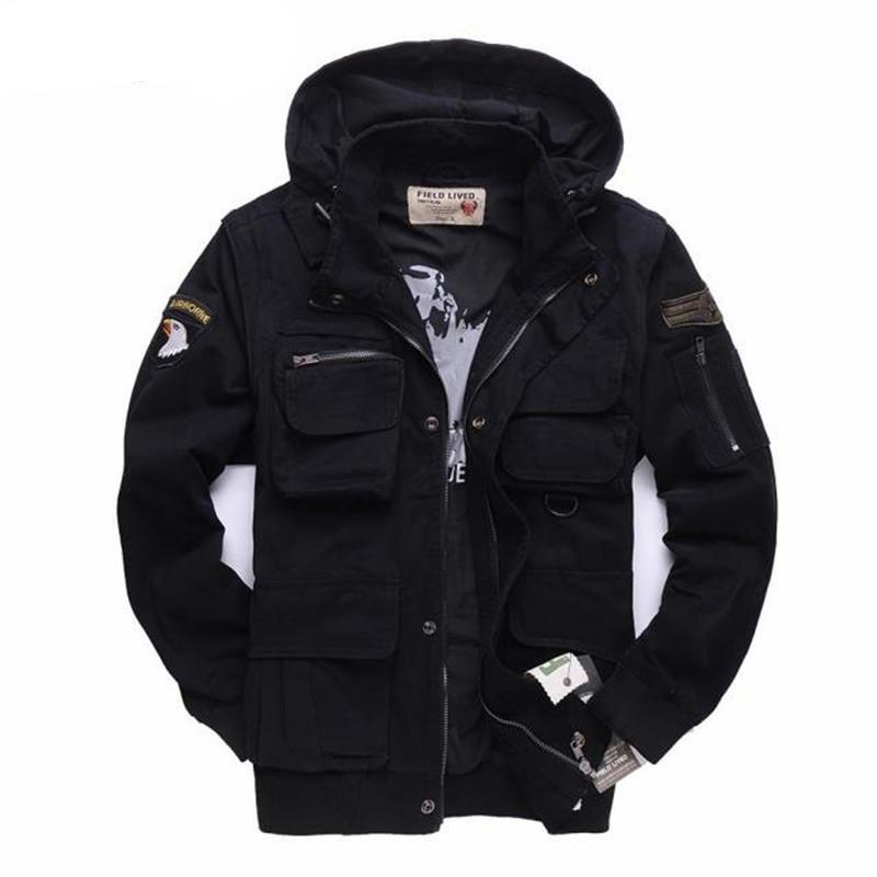 Men's Military Jacket 101 Air Force Pilots Army Jacket Casual Winter Coats Sleeves Detachable