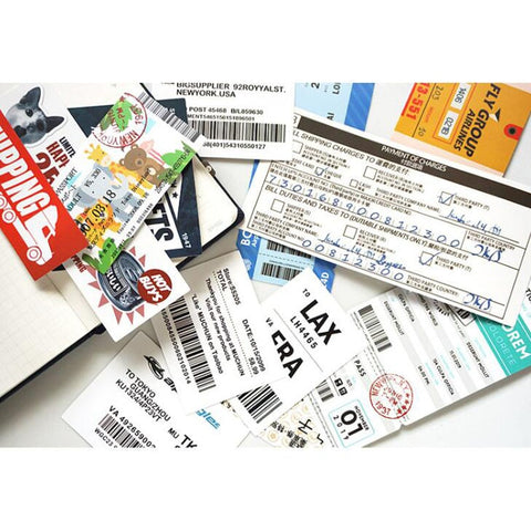 New Style 22Pcs Air tickets High Quality Stickers Aviation Travel Trip For Suitcase Laptop Decal Fashion DIY Waterproof Sticker