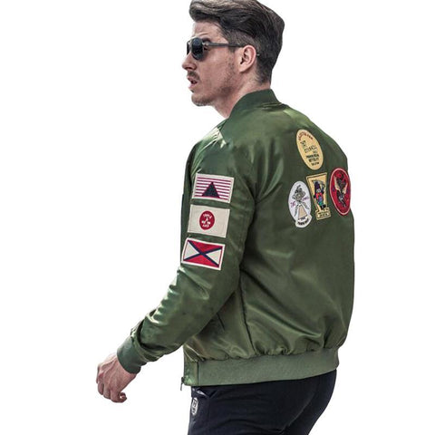 Bomber Jacket Men Ma-1 Army Green Flight Jacket Pilot Air Force Mens Ma1 Military Jackets