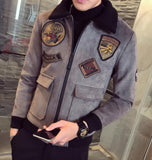 Red Bomber Jackets Mens Pilot Jackets Mens Jackets And Coat Mens Fur Collar Erkek Khaki\