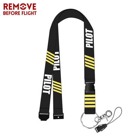Remove Before Flight Chaveiro Pilot Lanyards for Key Braided Keychain Neck Strap Card Badge