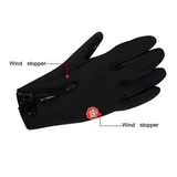 Men's Classic Black Winter Leather Gloves Touchscreen Gloves Male Military Army Women Gloves