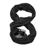 Portable Women Scarf with Pocket Infinity Scarf All Match Travel Journey Scaves New