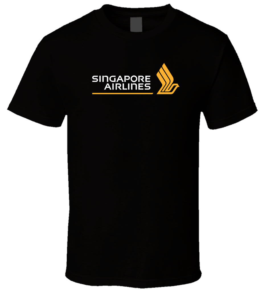 Singapore Airlines 1 Black Men Comfortable Cotton T Shirt Size S - 5XL