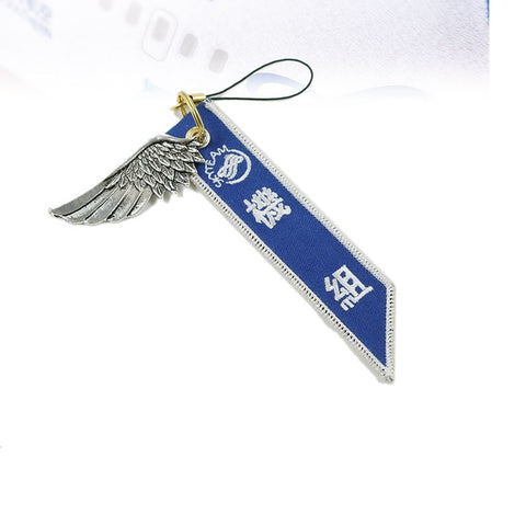 Skyteam Luggage bag Tag with Metal Wing  Orange & Blue Gift for Aviation Lover Flight