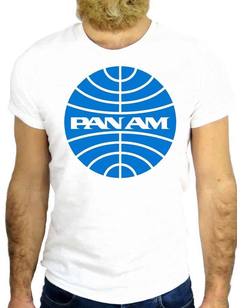 T Shirt PAN AM Vintage Airlines Flight USA America New York Fun Cool