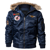 Men Bomber Jacket Winter Parkas Army Military Motorcycle Jacket Men's Pilot Jacket Coat Cargo