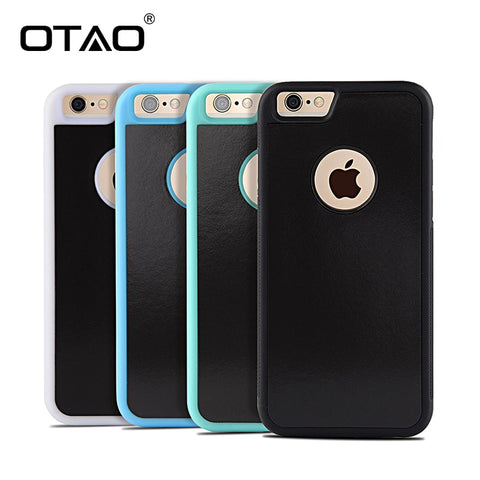 OTAO Anti Gravity Phone Case For iPhone X 8 7 6S Plus Antigravity TPU Frame Magical Nano Suction Cover