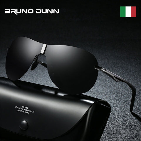 Bruno Dunn Aluminum Retro Men's Sunglasses Polarized brand Aviation Sun Glases for Male