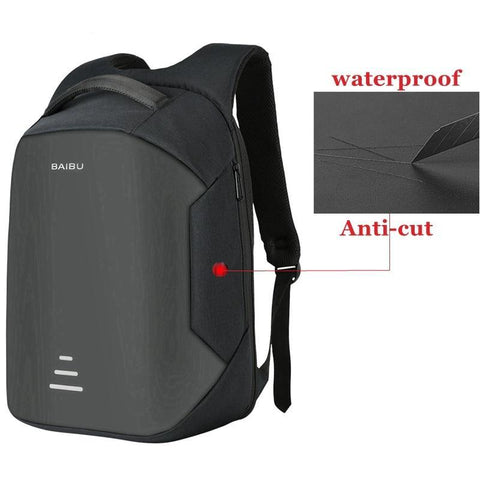 New men 15.6 Laptop Backpack Anti Theft Backpack USB Charging Women School Notebook Bag