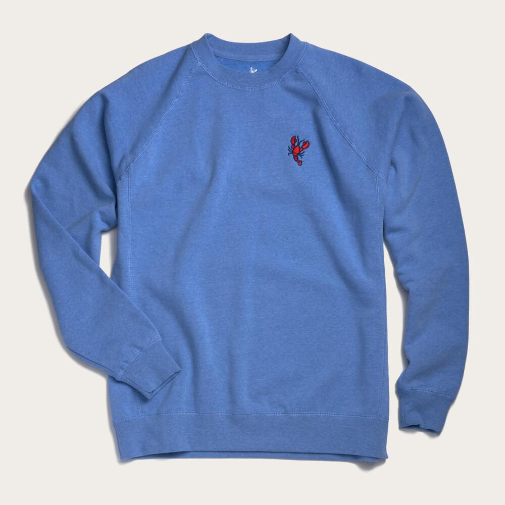 Crew Neck Sweatshirt - Pacific Blue