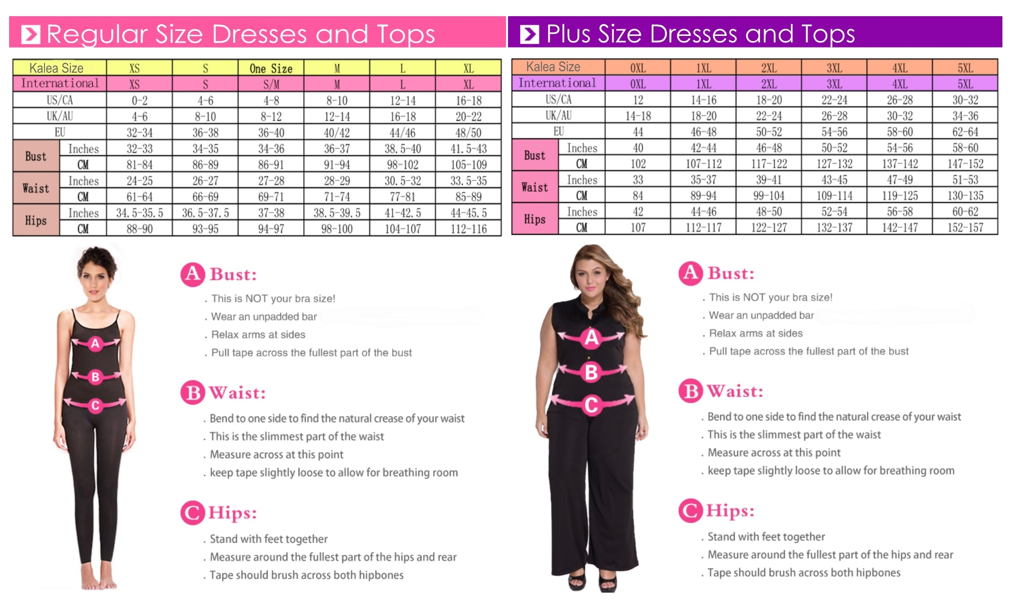 KaleaBoutique Dress Sizes