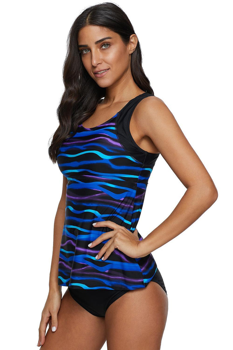 KaleaBoutique 2 Piece Stylish Printed Tankini Top with Triangle Briefs Swimsuit - KaleaBoutique.com