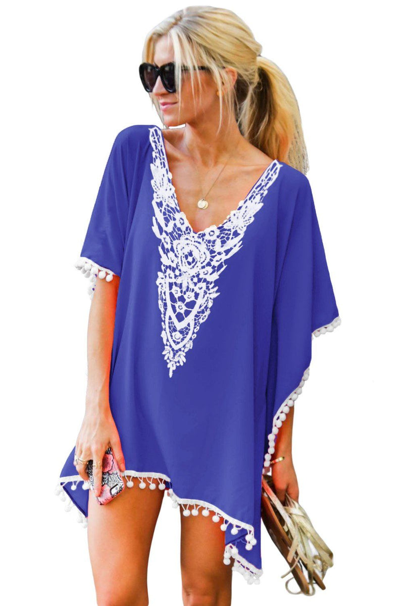 New KaleaBoutique Summer Crochet Chiffon Tassel Swimsuit Beach Cover-Up - KaleaBoutique.com