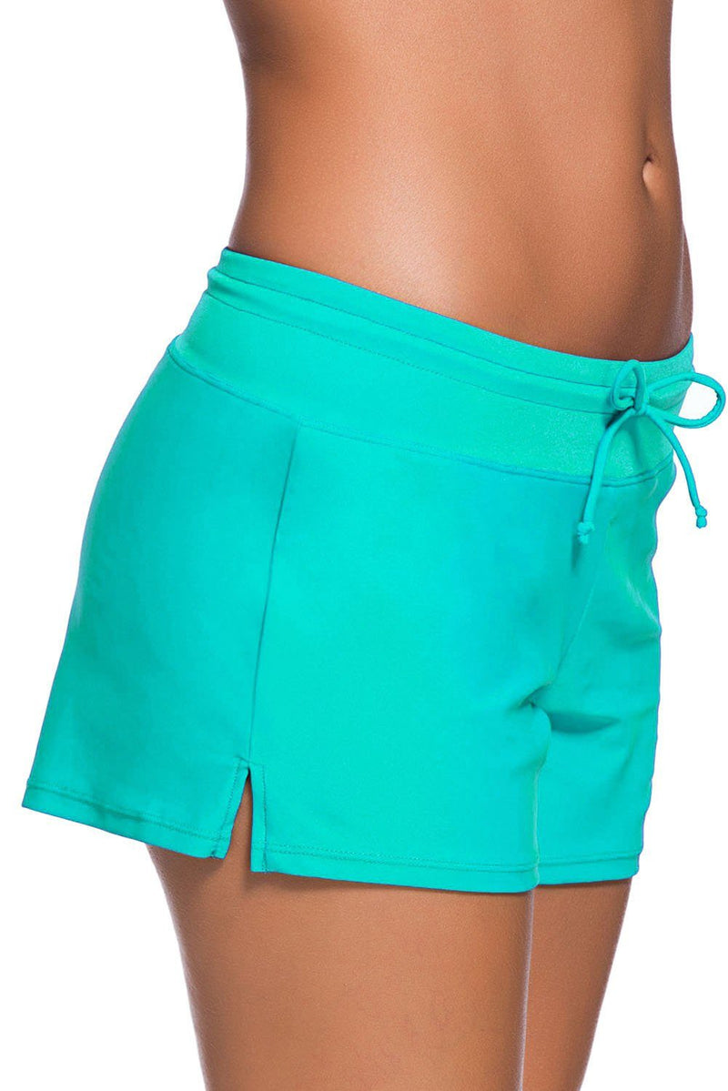 Women Mint Relaxed Swim Trunks Shorts Tankini Bottoms Bikini Sport Yoga Board Beach Swimwear - KaleaBoutique.com