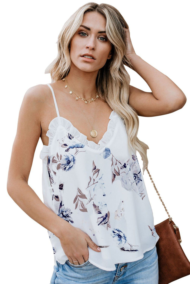 Young Love Ruffle Cami Tank - KaleaBoutique.com