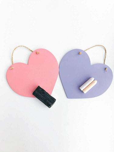 Mini Heart Chalkboards