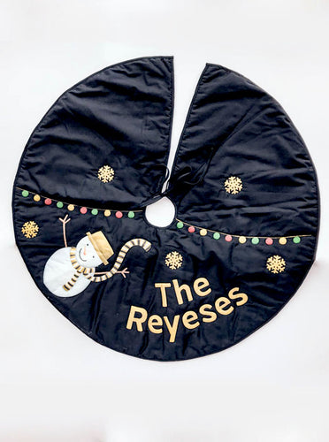 Personalized Holiday Family Tree Skirt