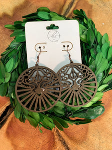 Laser Cut Wood Earrings-014