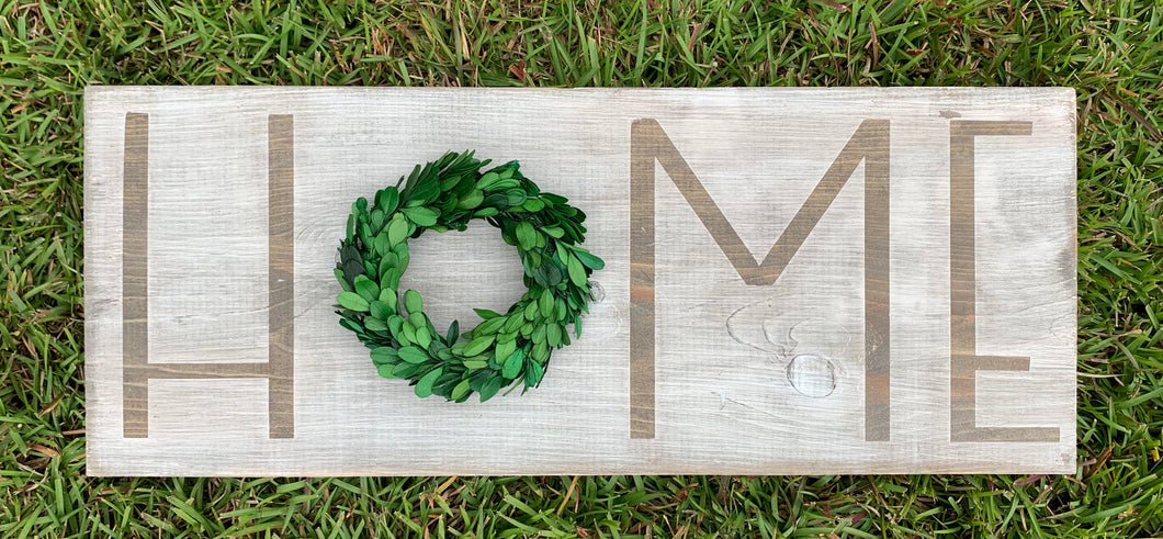 Preserved Boxwood Home Sign