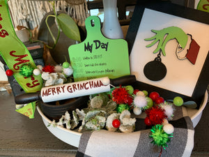 Grinch Tiered Tray