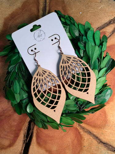 Laser Cut Wood Earrings-007