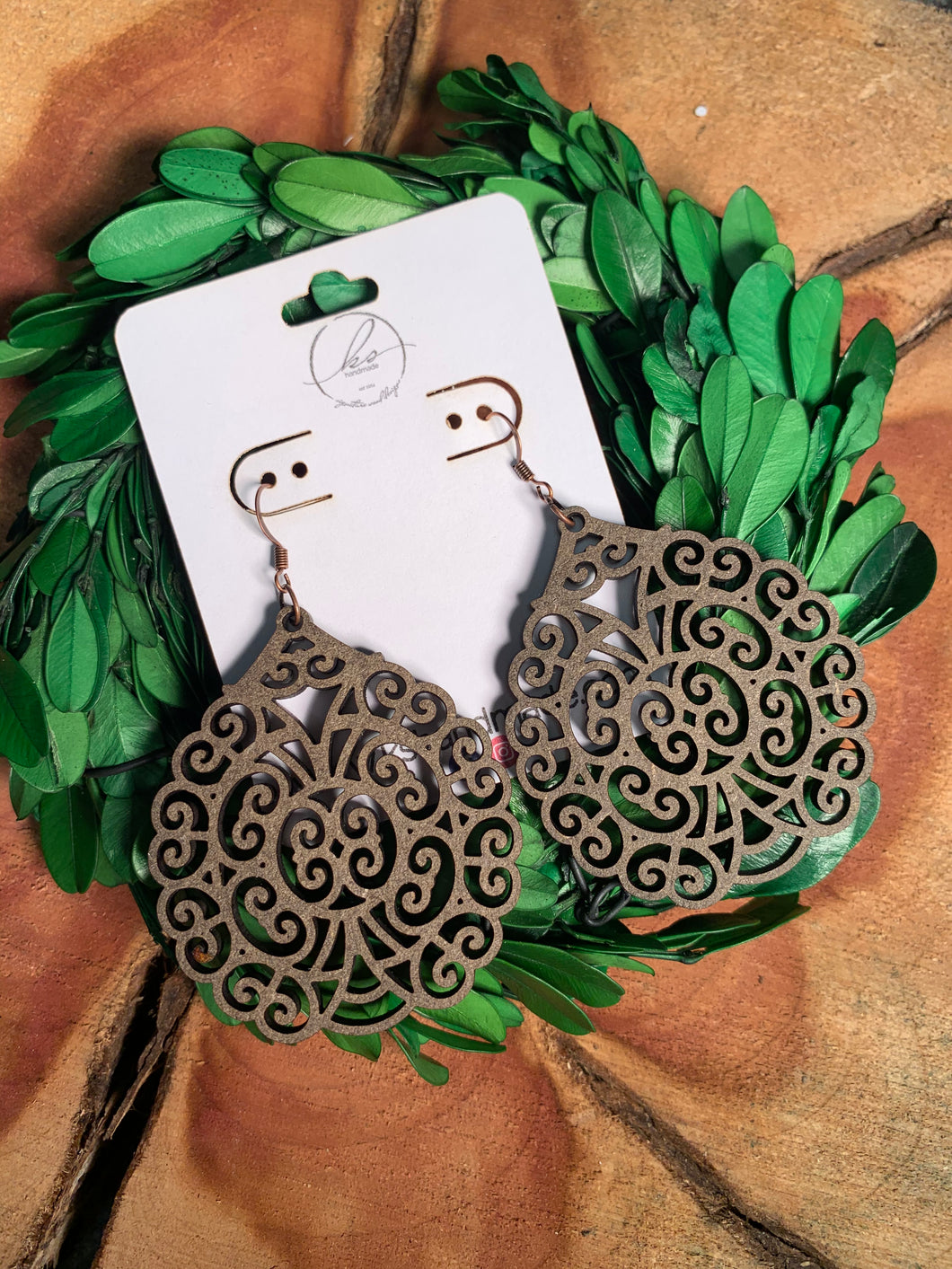 Laser Cut Wood Earrings-005