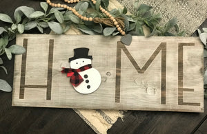 Interchangeable Welcome Season Sign