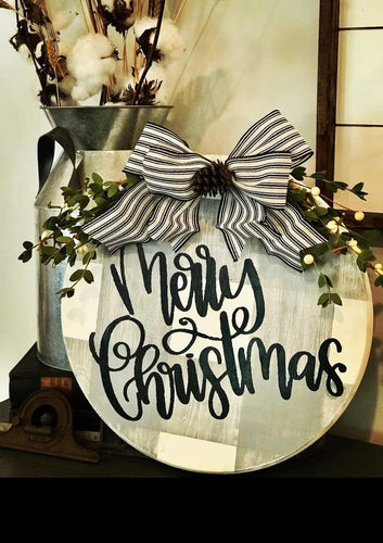 Merry Christmas Round Sign