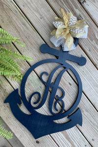 Anchor Monogram Door Hanger