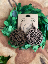 Load image into Gallery viewer, Laser Cut Wood Earrings-032