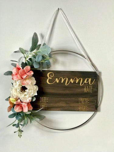 Floral Metal Door Hanger