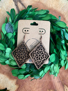Laser Cut Wood Earrings-033
