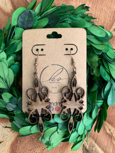 Laser Cut Wood Earrings-028