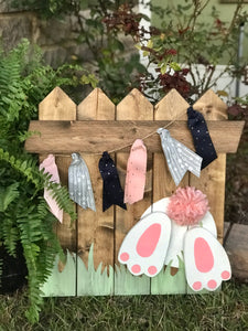 Easter Bunny Picket Fence