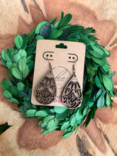 Load image into Gallery viewer, Laser Cut Wood Earrings-041