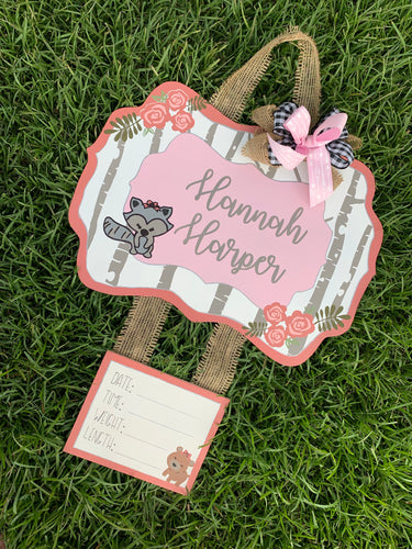 Woodland Door Hanger