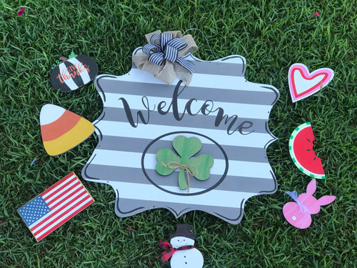 Interchangeable Welcome Door Hanger