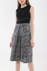 Black Culotte Batik Jumpsuit in Black