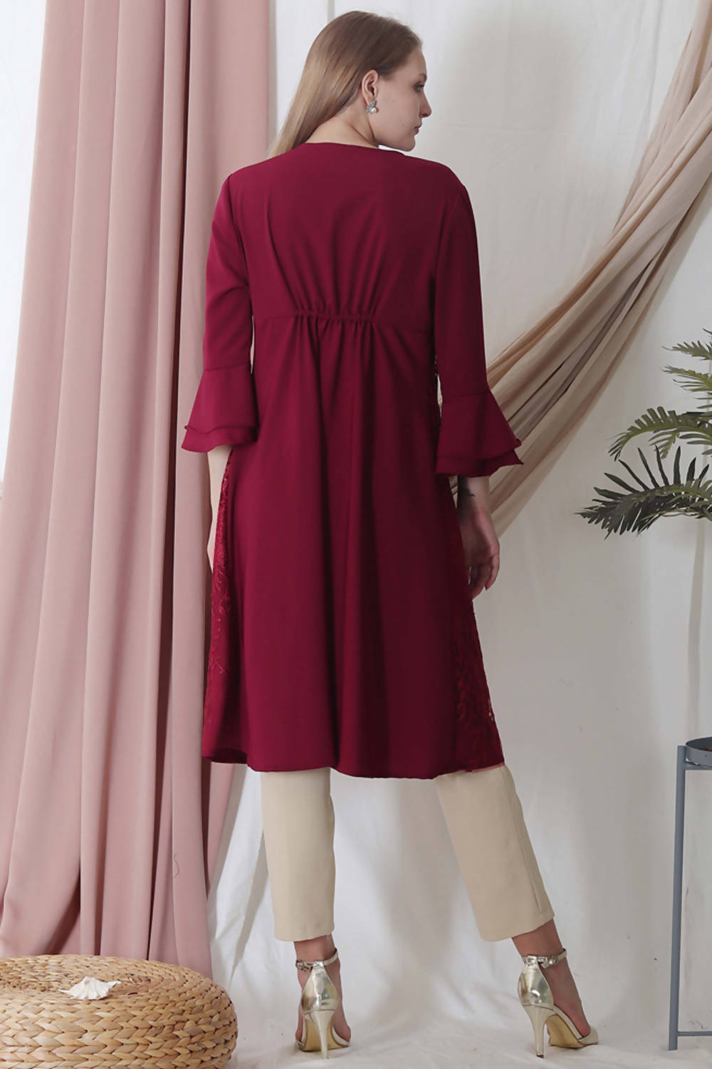 Elana Tunic Dress Maroon